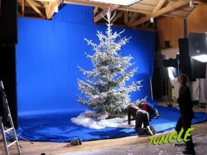 Blue screen - looks a bit like a christmas commercial maybe :-)